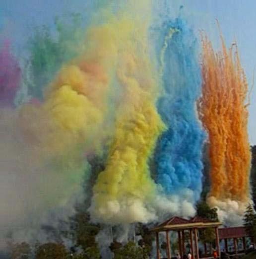 renkli sis duman gösterisi