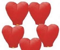 kalp dilek balonu