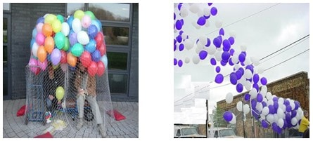 uçan balon bırakma